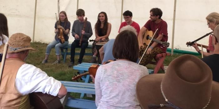 The Finn Collinson Band workshop, FolkEast 2019